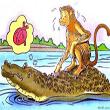 นิทานคุณธรรมสอนใจภาษาอังกฤษ เรื่อง The Crocodile and The Monkey